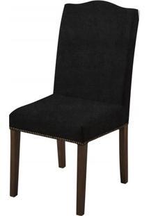Cadeira Arabes Preta Base Tabaco - 50592 - Sun House