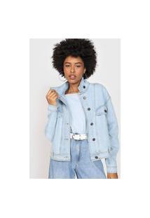 Jaqueta Jeans Hering Pespontos Azul