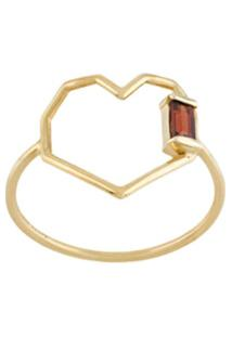 Aliita Heart Shaped Ring - Dourado
