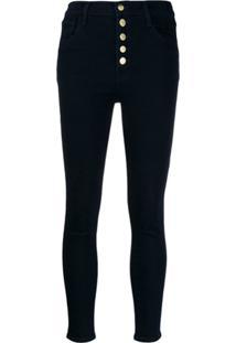 J Brand Cropped Skinny Jeans - Azul