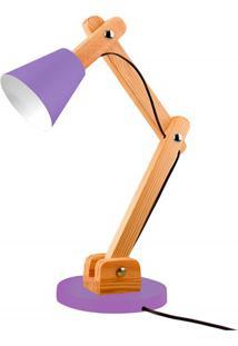 Luminária De Mesa Para 1 Lâmpada Bivolt Cone Ultra Violet