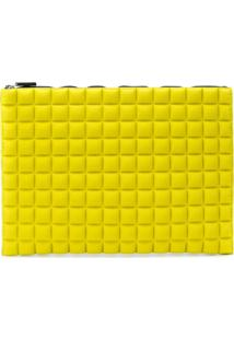 No Ka' Oi Clutch Matelassê 'Chocolate' - Amarelo
