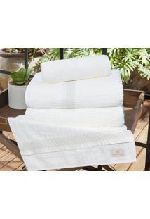 Jogo De Toalhas (Banho E Rosto) Gigante Coleção Myriad Branco Friba De Bambú Com 5 Peças - Ruth Sanches - Kanui
