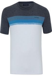 Camiseta Listradora Com Lycra Navy Blue