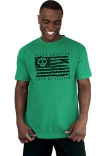 Camiseta Bleed American Land Of Freedom Bandeira