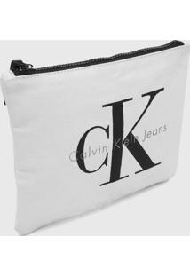 Necessaire Calvin Klein Logo Branca - Kanui