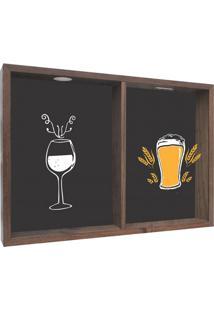 Quadro Porta Rolhas Drink Madeira