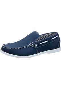 Docksider Casual Moderno Magi Shoes Confortável Azul