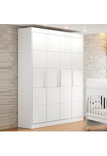 Guarda-Roupa De Bebê 4 Portas 3 Gavetas Chocolate Plus Branco - Multimóveis