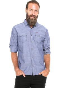 Camisa Dixie Reta Azul