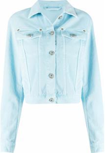 Versace Jaqueta Jeans Com Botões - Azul