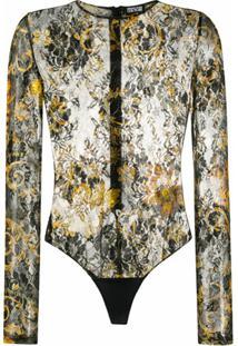Versace Jeans Couture Body Com Estampa Barroca Floral - Preto