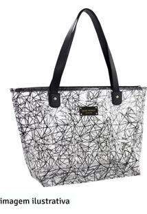 Bolsa Shopper Jacki Design Preta E Transparente