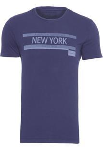 Camiseta Masculina New York - Azul Marinho
