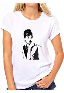 Camiseta Audrey Coolest Feminina - Feminino-Branco