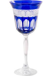 Taça De Cristal 220Ml Azul Lodz