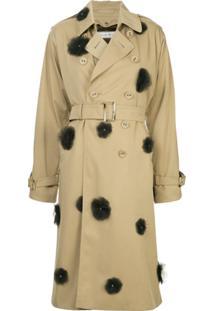 Farfetch. Sobretudo Nylon Trench Coat Feminino Igp Nude Floral Neutrals ... 52623fa28e9