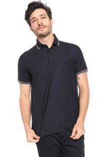 Camisa Polo Dudalina Reta Azul Marinho
