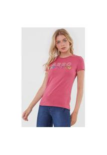 Camiseta Aeropostale Hibisco Rosa