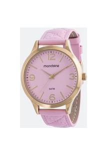 Kit Relógio Feminino Mondaine 53695Lpmgdh3K Analógico 5Atm + Conjunto Semijóia | Mondaine | Rosa Médio | U
