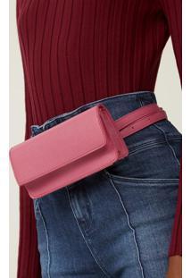 Bolsa Amaro Belt Bag Flap Pink - Rosa - Feminino - Dafiti