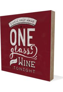 Quadro Adoraria Placa Vinho