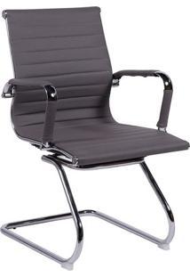 Cadeira Office Eames Esteirinha Fixa- Cinza- 89X54,5Or Design