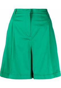 Twinset Bermuda Cintura Média - Verde