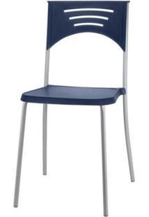 Cadeira Bliss Assento Azul Base Cinza - 53714 - Sun House
