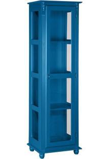 Cristaleira Estante Torre Kian - Azul