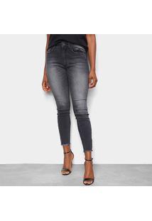 Calça Jeans John John Skinny Lavada Desfiada Feminina - Feminino