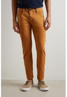 Calça Pf Skinny Reserva Color Inv 19 Masculina - Masculino-Caramelo