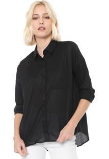 Camisa Calvin Klein Jeans Mullet Preta