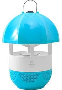 Luminária Repelente Elétrico Mata Insetos Por Luz E Sucção Alcance 25M Sem Cheiro Azul Bivolt - Unissex