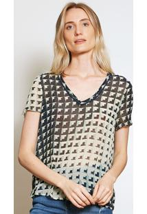Camiseta Forum Geométrica Bege