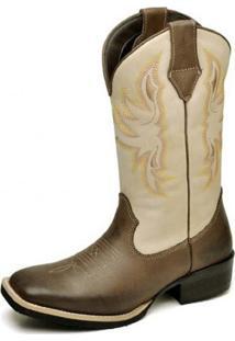Bota Texana Top Franca Shoes Country Areia