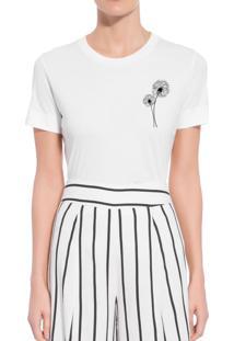 Camiseta Forseti Confort Dente De Leão Branca - Kanui