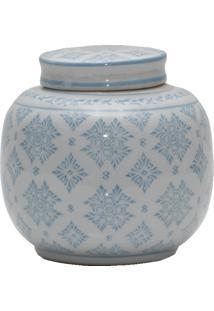Vaso De Porcelana Bleu