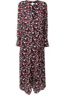 Equipment Floral Print Maxi Dress - Preto