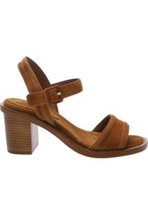 Sandália Block Heel Basic Nobuck Neutral | Schutz