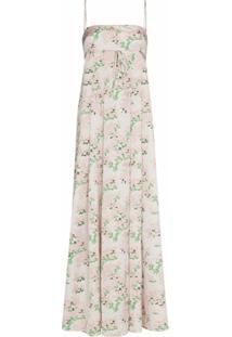Bernadette Vestido Longo Jules Com Estampa Floral - Rosa