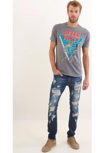 Calça John John Skinny Nova Iorque 3D Jeans Azul Masculina Cc Skinny Nova Iorque 3D-Jeans Escuro-36