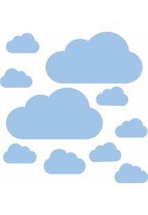 Adesivo De Parede Nuvens Azul Para Quarto Infantil