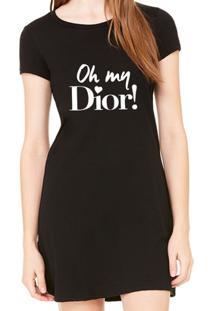 Vestido Criativa Urbana Estampado Oh My Dior - Feminino