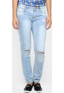 Calça Jeans Mob Skinny Rasgada - Feminino