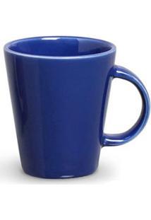 Conjunto De Canecas Basic Em Cerâmica 208 Ml Com 04 Peças Azul Navy - Porto Brasil