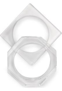 Kit De Braceletes Resina