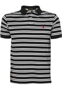 Polo Ralph Lauren Listra Stripe Preta E Branca