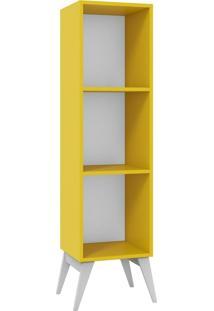 Estante Para Livros Tutti Colors 3016 Amarelo - Madesa
