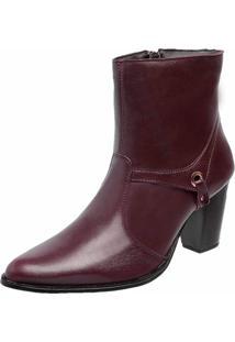Bota Cano Curto Dr Shoes Vinho